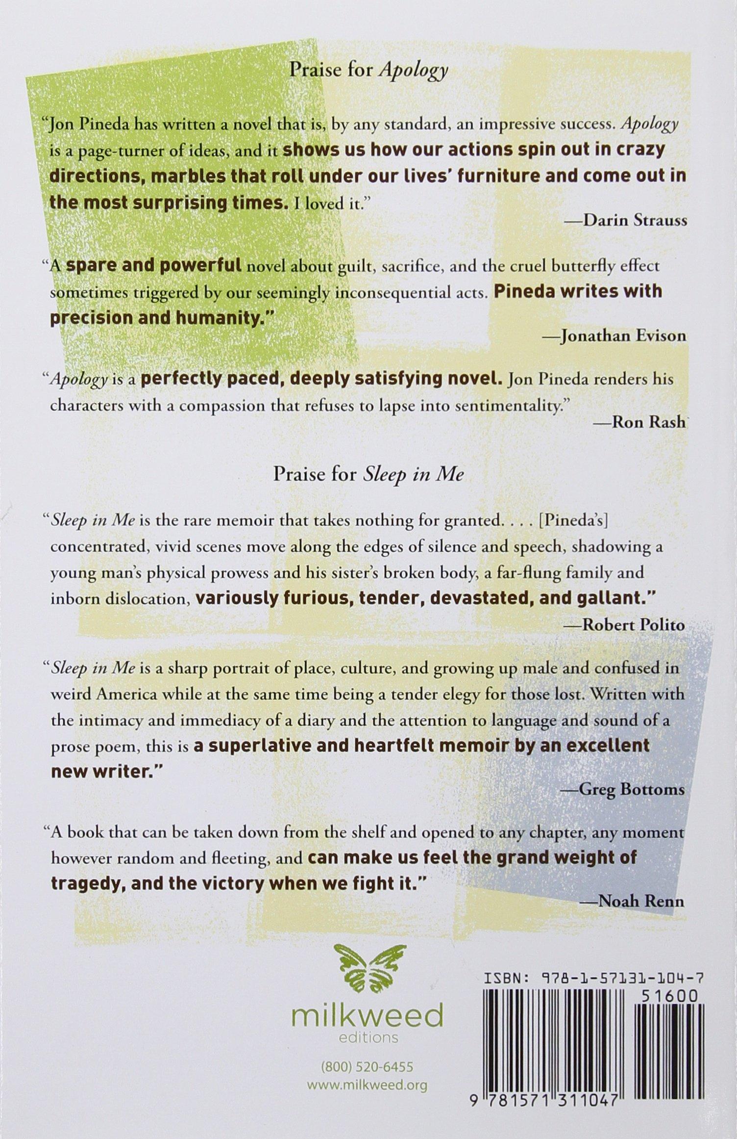 Apology: A Novel (milkweed National Fiction Prize): Jon Pineda:  9781571311047: Amazon: Books
