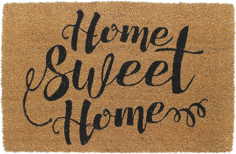 "Avera Products | Home Sweet Home, Natural Coir Fiber Doormat, Anti-Slip PVC Mat Back | 29"" x 17"""