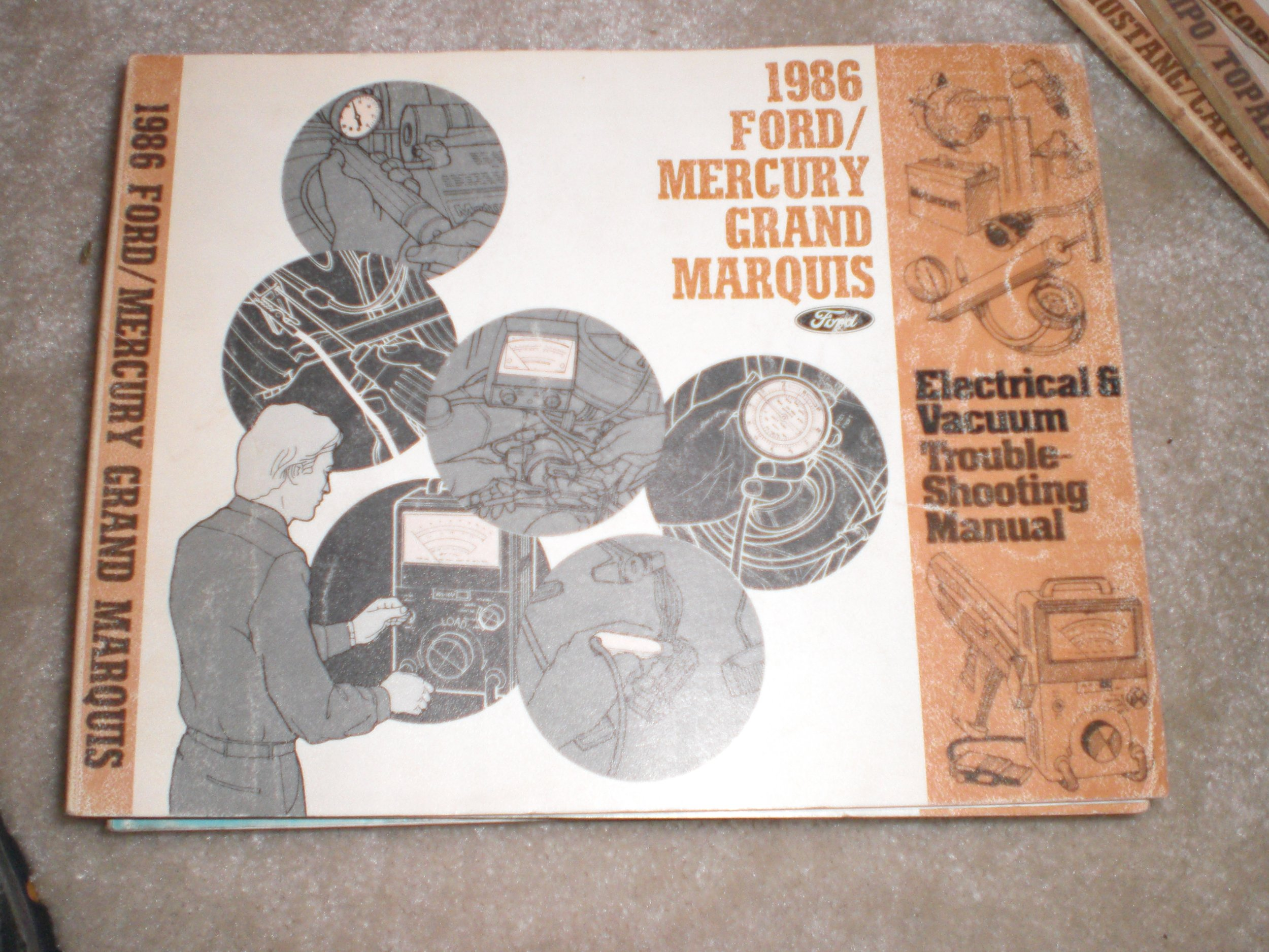 1986 Electrical Vacuum Troubleshooting Manual Ford Mercury Grand 1985 Marquis Wiring Diagram Motor Co Books