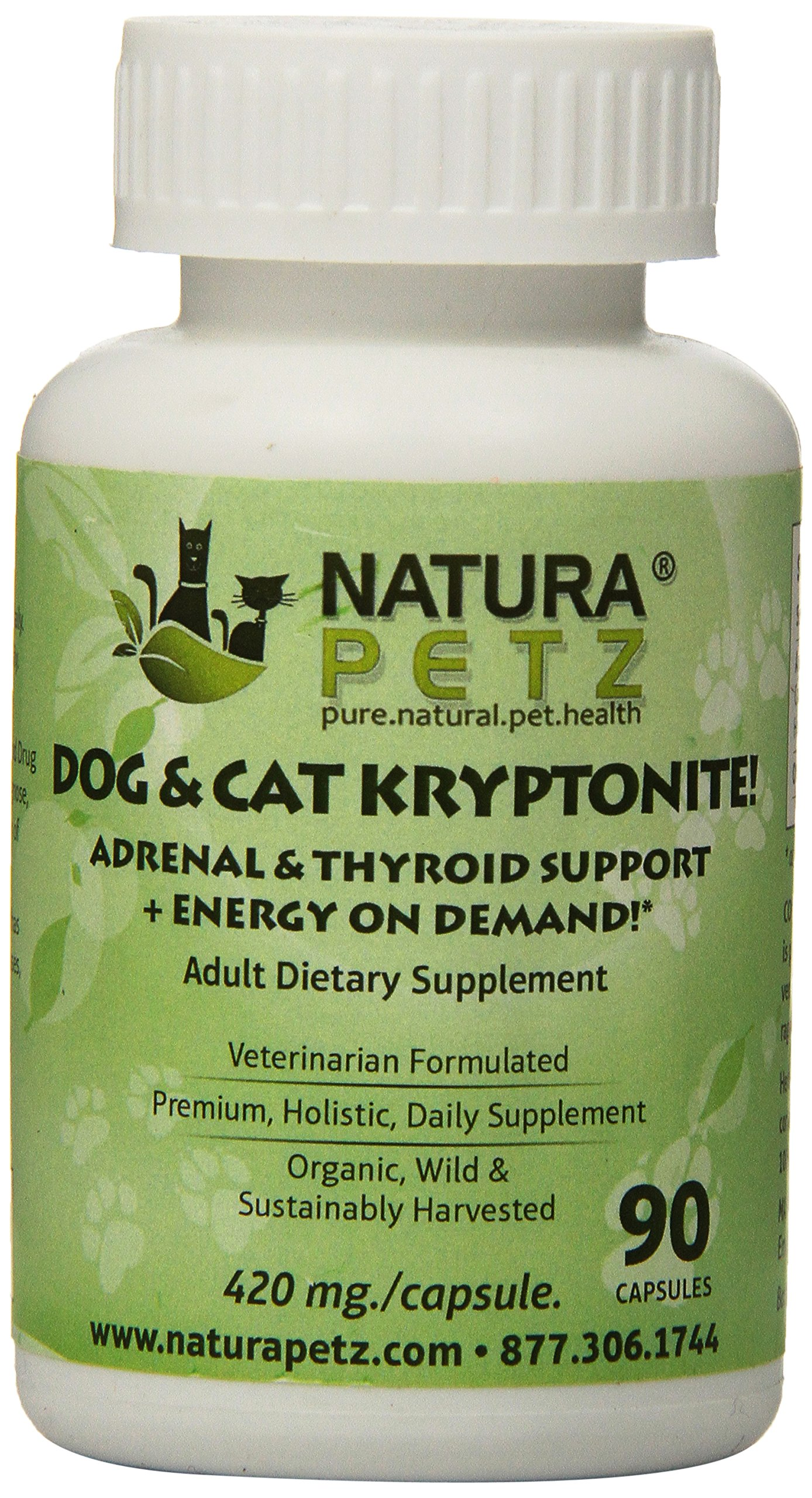 Natura Petz Dog and Cat Kryptonite Adrenal and Thyroid Support for Cushing's ...