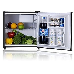 Midea WHS-65LB1 Compact Single Reversible Door Refrigerator and Freezer, 1.6 Cubic Feet