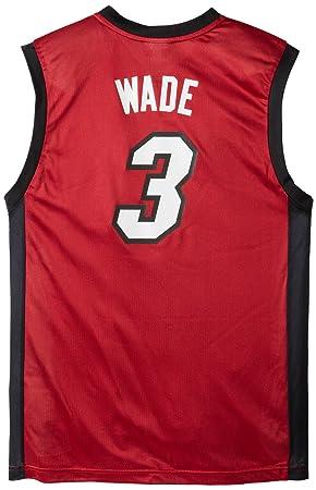 Adidas Miami Heat de la NBA Dwayne Wade Camiseta de Manga Larga para Hombre, Hombre, Granate: Amazon.es: Deportes y aire libre