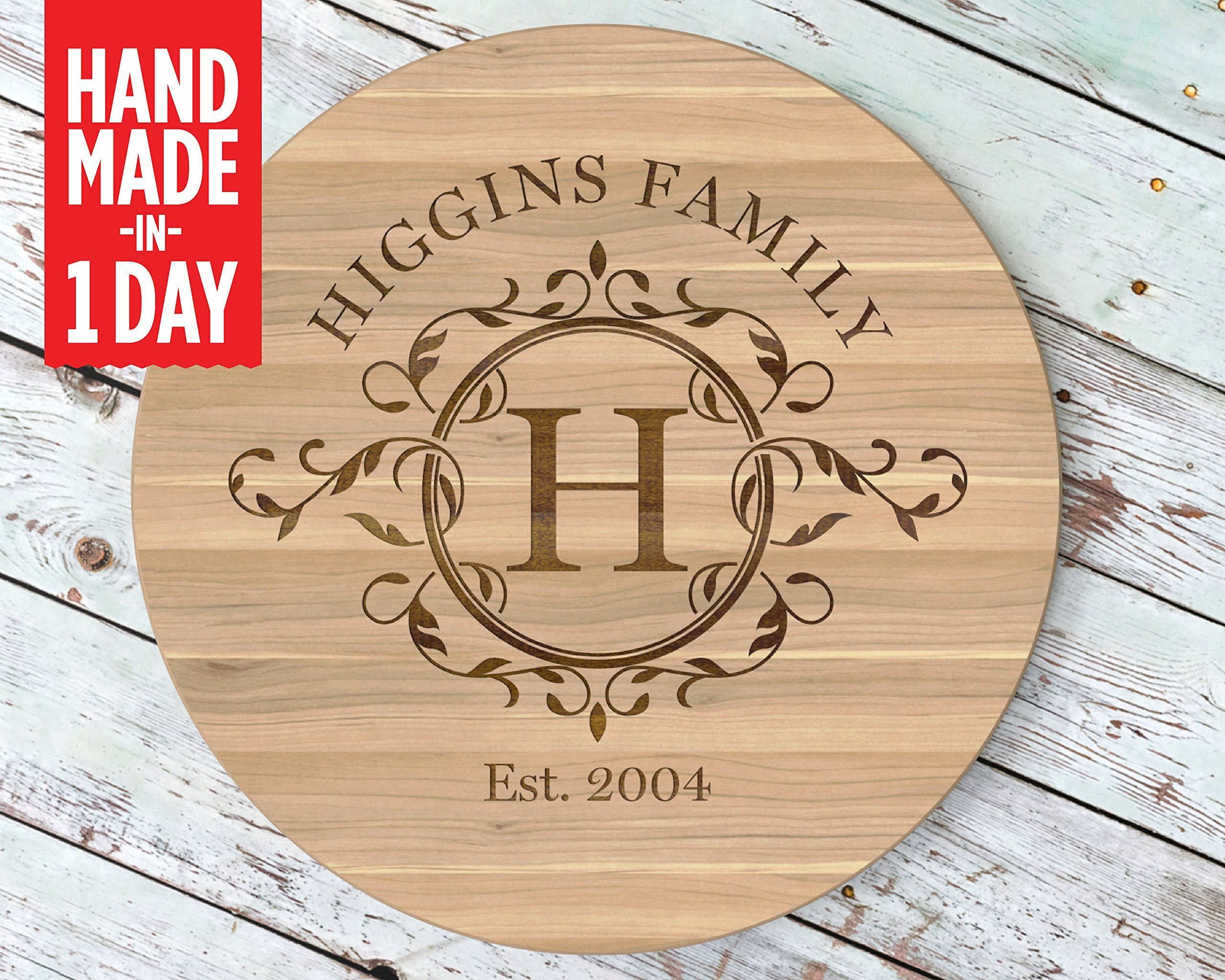 Lazy Susan, Custom Lazy Susan, Personalized Lazy Susan, Custom Christmas Gifts, Turntable, Lazy Susan Turntable, Cutting Board, Custom Cutting Board, Personalized Cutting Board - LS533