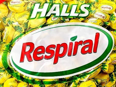 Respiral Caramelos Pack PERSONALIZABLE (Limón y Mentol, Eucalipto Mentolado, Miel y Mentol, Regaliz Menta y Ecucaliptus Mentol Sin Azúcar) [Bolsas de 1 kg por sabor] Regalo Halls 32 g sabor a elegir.: