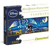 Clementoni 39287.2 - 1000 Disney Panorama Collection Mickey und Minnie, Klassische Puzzle