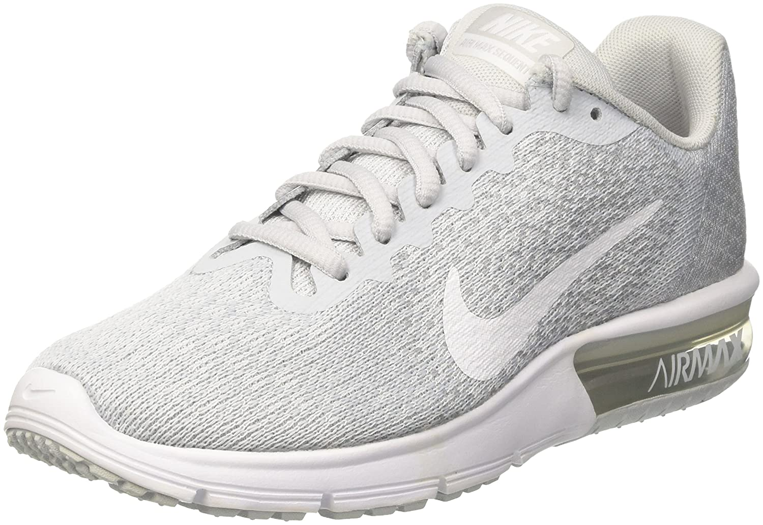 outlet store 41e1a 61ca5 Nike Air Max Sequent 2 Pure Platinum White Wolf Grey Women Running Shoes  Size 8.5