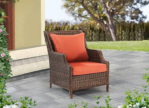 Sunjoy S-PL062PFB-O 2-Piece Chair Deep Seating Outdoor Cushion, Paprika