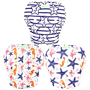 363de3a97d Image Unavailable. Image not available for. Color: Wegreeco Baby & Toddler  Snap One Size Reusable Baby Swim Diaper ...