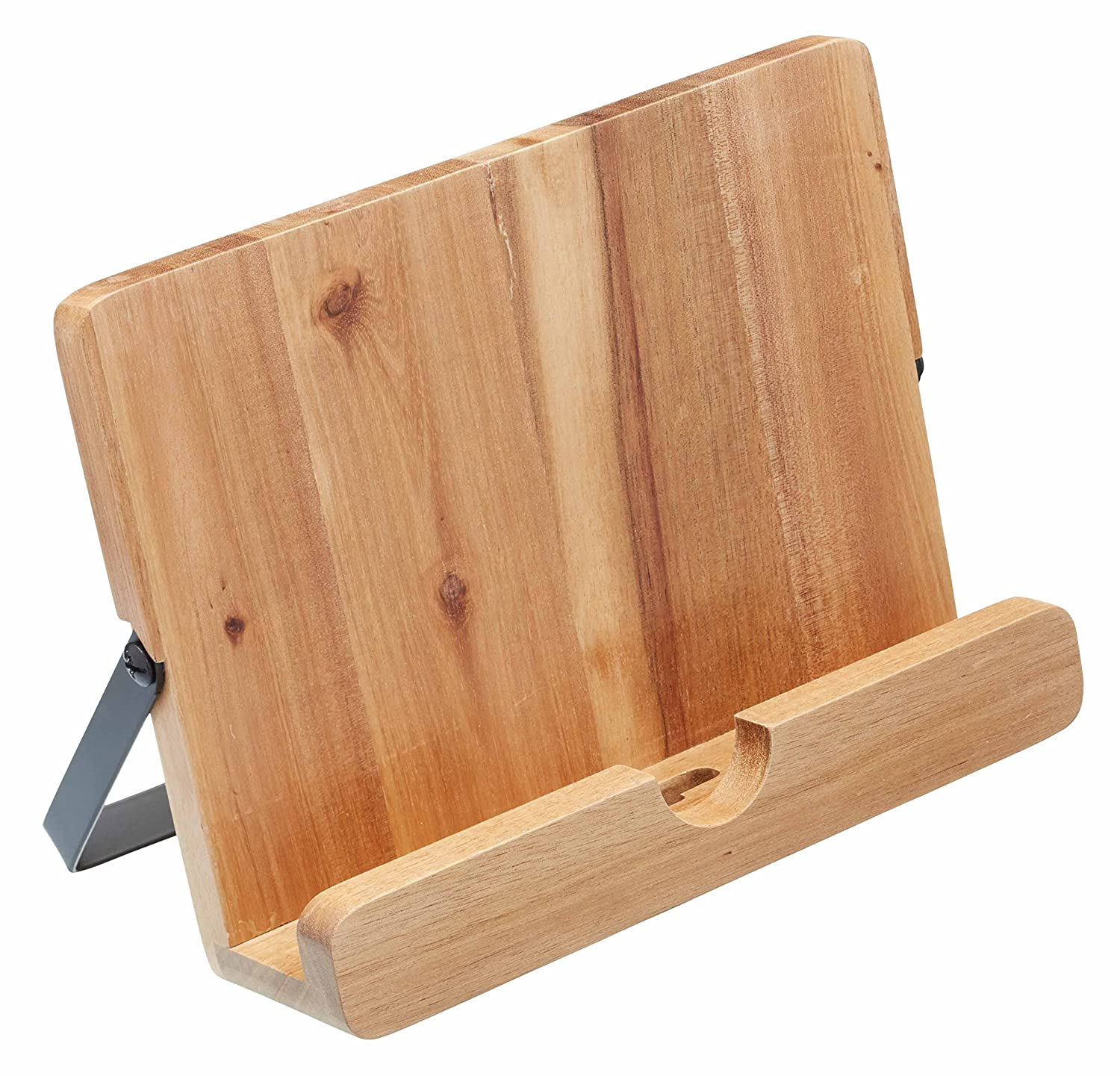 KitchenCraft Natural Elements Acacia Wood Cookbook / Tablet Stand NECBSTAND