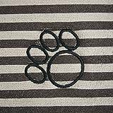 "Bone Dry CAMZ36531 Small Microfiber Stripe Pet Mat, 12"" x 18"", Striped Brown"