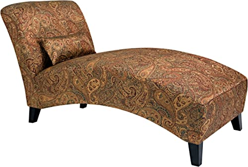 Handy Living Chaise Lounge Chair, Sienna Paisley