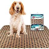 Simple Solution - Almohadilla para cachorros (lavable, reutilizable, absorbente y control de olores, 30 x 32 pulgadas, 2 unid