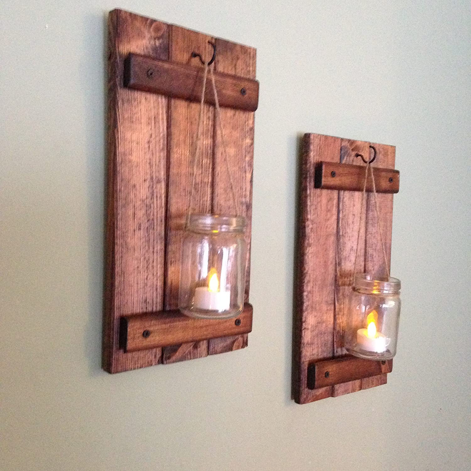 Amazon wall sconce rustic wall decor wood wall sconce amazon wall sconce rustic wall decor wood wall sconce rustic wall sconce candle holder set of two handmade amipublicfo Images