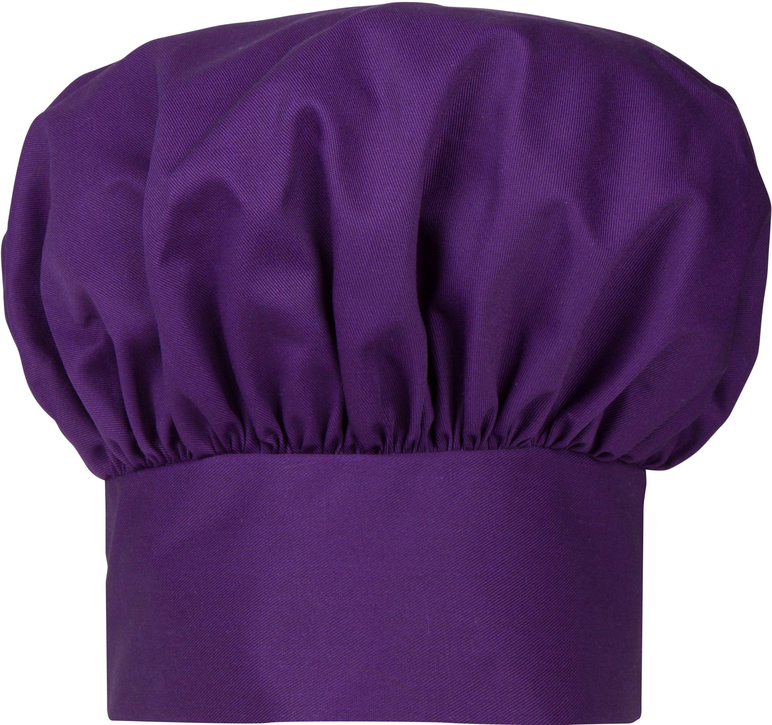 Phoenix Chef's Hat with Velcro Close, Purple by Phoenix