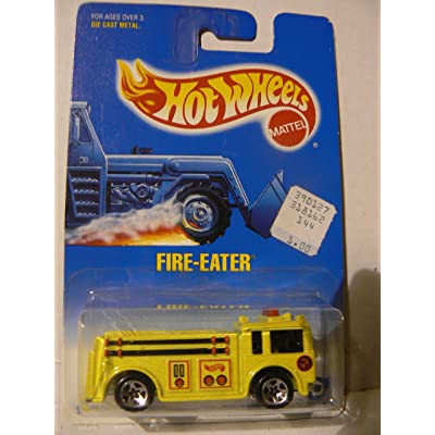 Hot Wheels Fire-Eater Yellow with 5 Spoke Wheels #82: Toys & Games