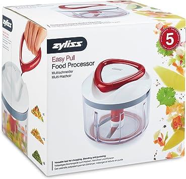 Zyliss ZC E910015 Easy Pull Procesador de Alimentos, Plástico y ABS, Blanco y Rojo, 14 cm: Amazon.es