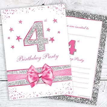 4th Birthday Party Invitations