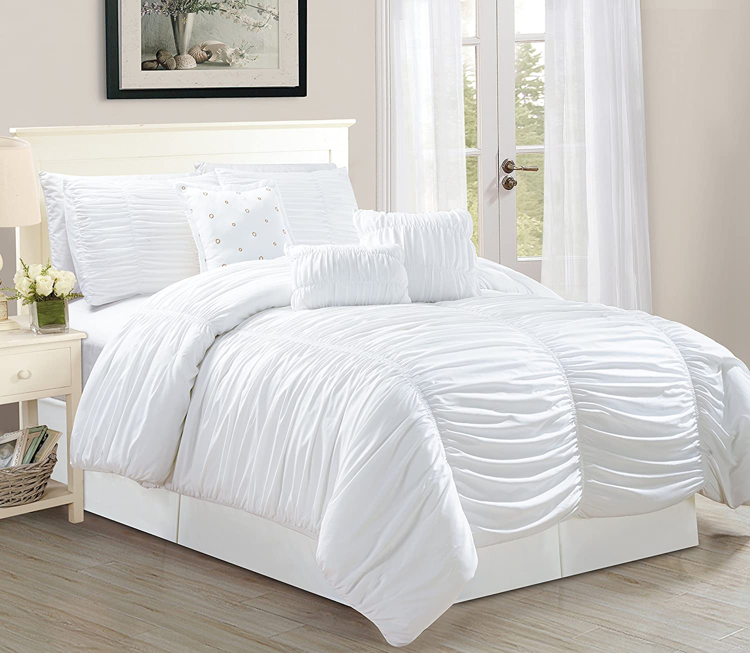 navy decor king set dp sets comforter lush amazon home aster coral quilted kitchen piece com