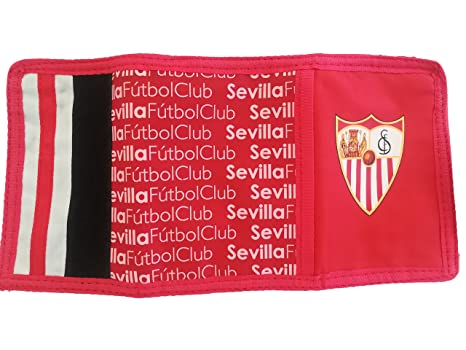 Billetera Sevilla F.C Cartera Monedero Hombre Mujer Niño Niña Producto Oficial con llavero