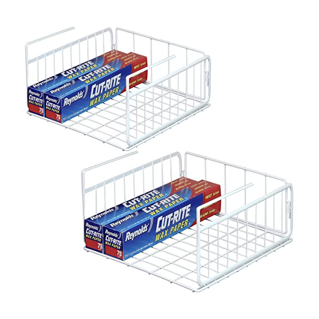2 Pack - SimpleHouseware Under Shelf Basket, W...
