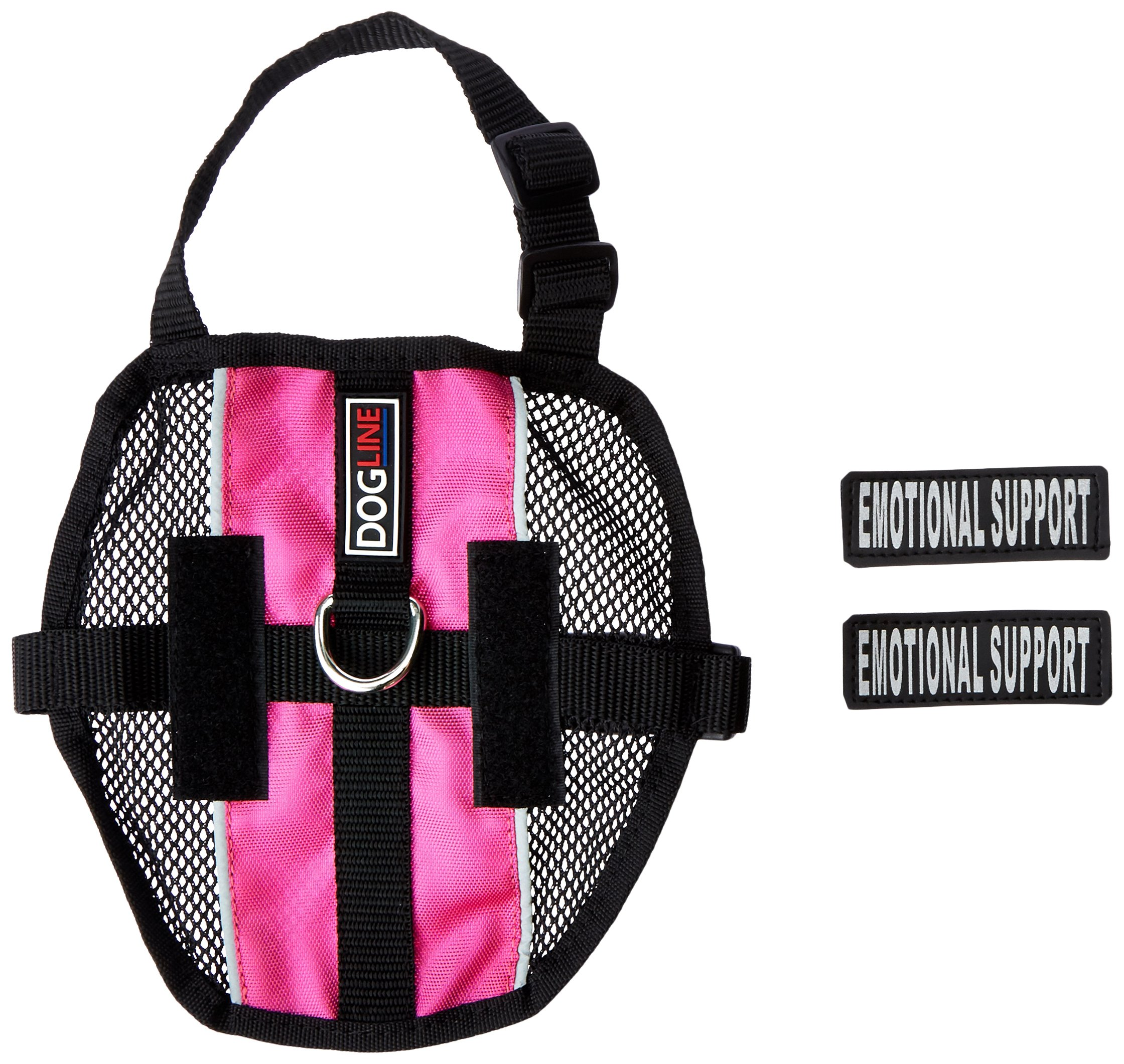 Dogline MaxAire Multi-Purpose Mesh Vest for Dogs and 2 Removable Emotional Support Patches, Small, Pink by Dogline (Image #1)