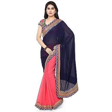 Rekha Ethnic Shop Black Color Designer Womens Saree Bollywood Party Indian Wear Sari
