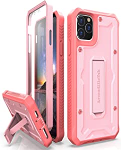 ArmadilloTek Vanguard Designed for iPhone 11 Pro Max Case (6.5 inches) Military Grade Full-Body Rugged with Kickstand and Built-in Screen Protector - Pink
