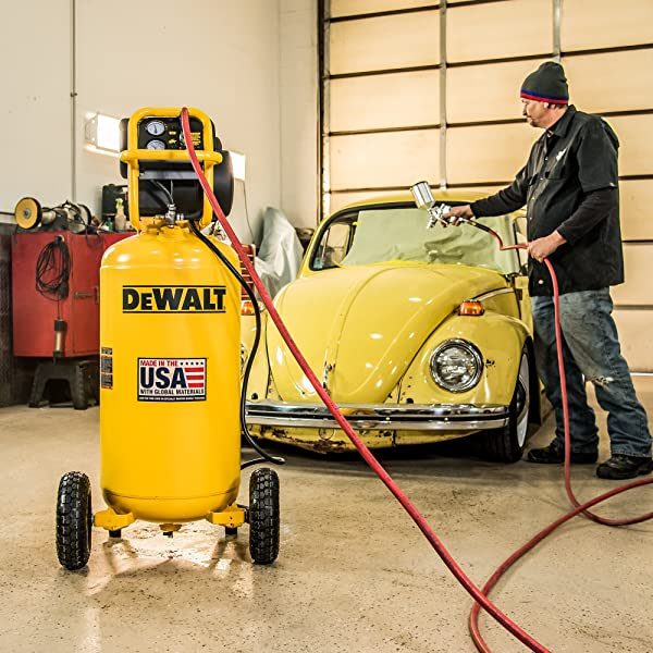 The compressor can start with a low amp, meaning that you do not have to change the wiring in your garage