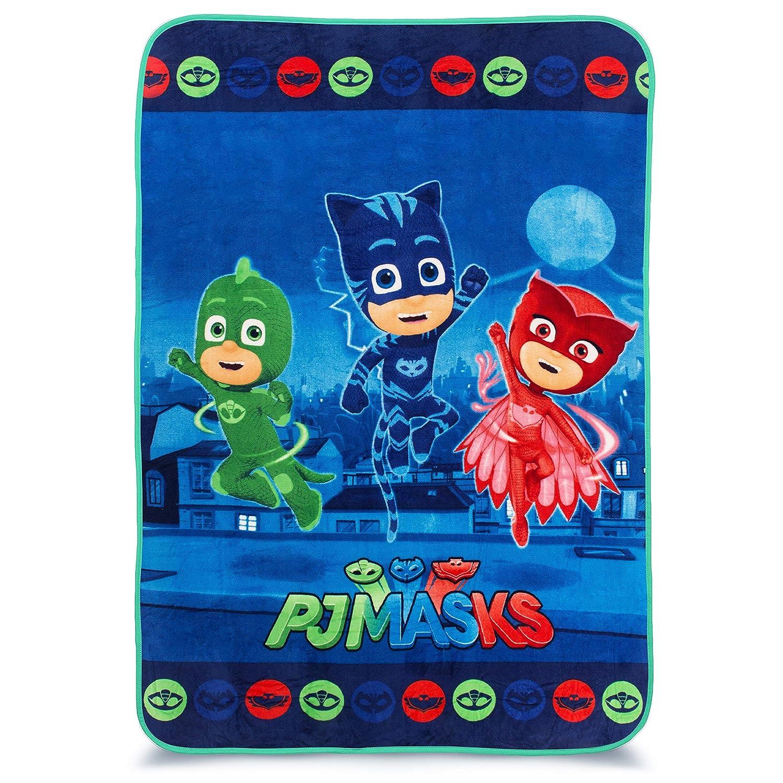 "Franco Kids Bedding Super Soft Plush Blanket, Twin/Full Size 62"" x 90"", PJ Masks"