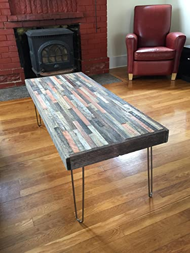 Barn Wood Coffee Table   40u0026quot;x20u0026quot;  Industrial Furniture   Modern  Reclaimed Barn