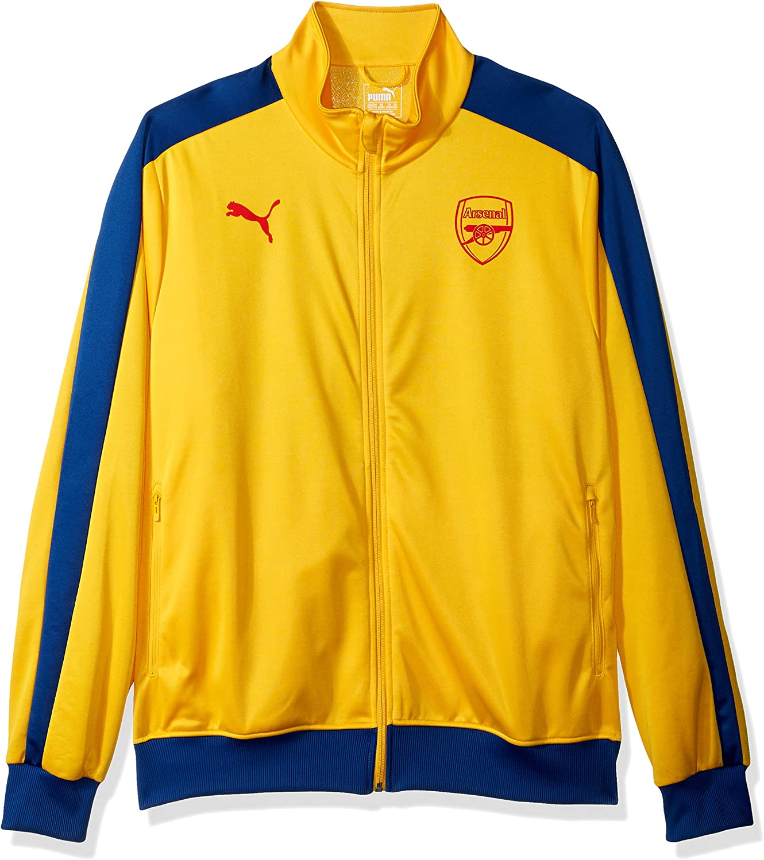 Amazon.com: PUMA Men's Standard Arsenal Fc T7 Jacket, Yellow ...