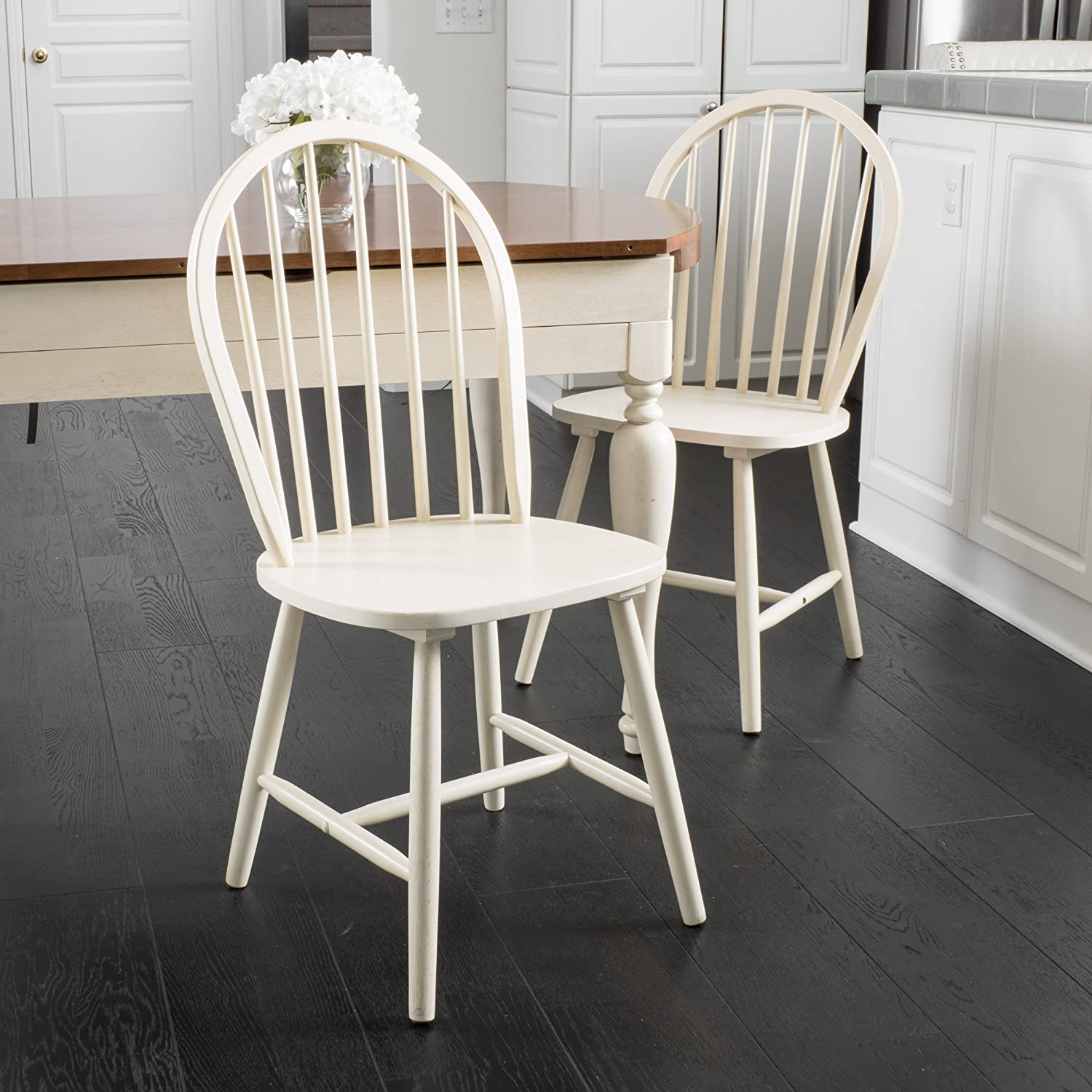 Christopher Knight Home 296031 Countryside Dining Chair, Antique White