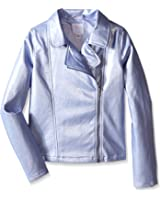 The Children's Place Girls' Metallic Leather Jacket
