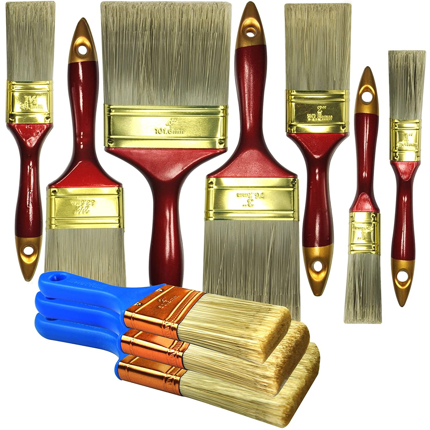 10 Piece Professional Painters Heavy Duty Paint Brush,Paint Brushes,Paint Brushes Set,Paint Brushes,Painters Tools,Painters Brush,Painters Paint Brush Andrew