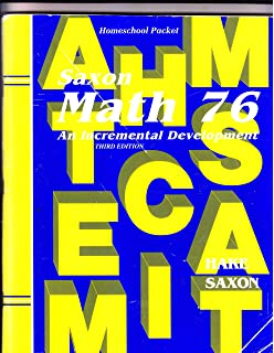 Amazon saxon math 76 home school tests 9781565771574 saxon math 76 an incremental development homeschool packet including suggestions for course planning fandeluxe Images