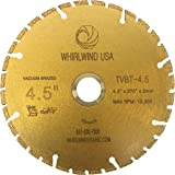 """Whirlwind USA TVBT 4.5 in. All Purpose Metal Cutting Dry or Wet Cutting Vacuum-Brazed Segmented Diamond Blades for Metal and Plastic Materials (Factory Direct Sale) (4.5"""")"""