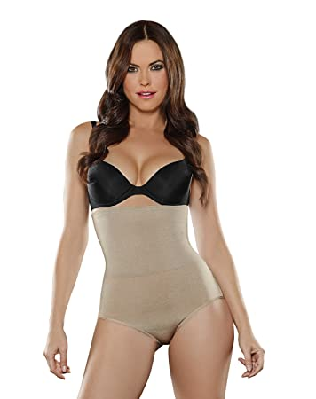 19656ceef3 Image Unavailable. Image not available for. Color  ShapEager Faja Colombiana  Reductora 2x Layer Shaper Bio-Crystals Panty Shapewear Black