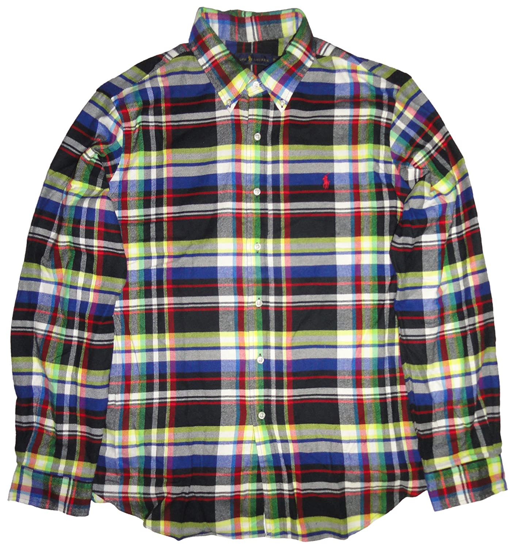743bf24f Polo Ralph Lauren Men's Long Sleeve Flannel Shirt Green Plaid