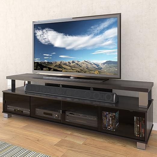 Amazon Sonax B 003 RBT Bromley 75 Inch 2 Tier TV Bench Ravenwood Black Kitchen Dining