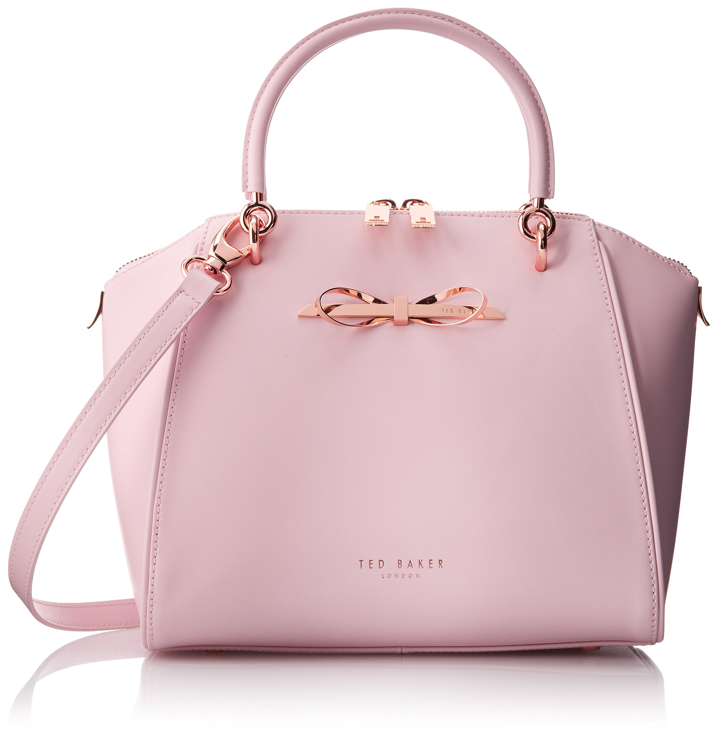 d76336fbf Galleon - Ted Baker Lailey Metal Slim Bow Leather SML Tote Top Handle Bag