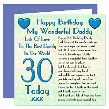 Daddy 30th happy birthday card lots of love to the best daddy in daddy 30th happy birthday card lots of love to the best daddy in the world bookmarktalkfo Choice Image
