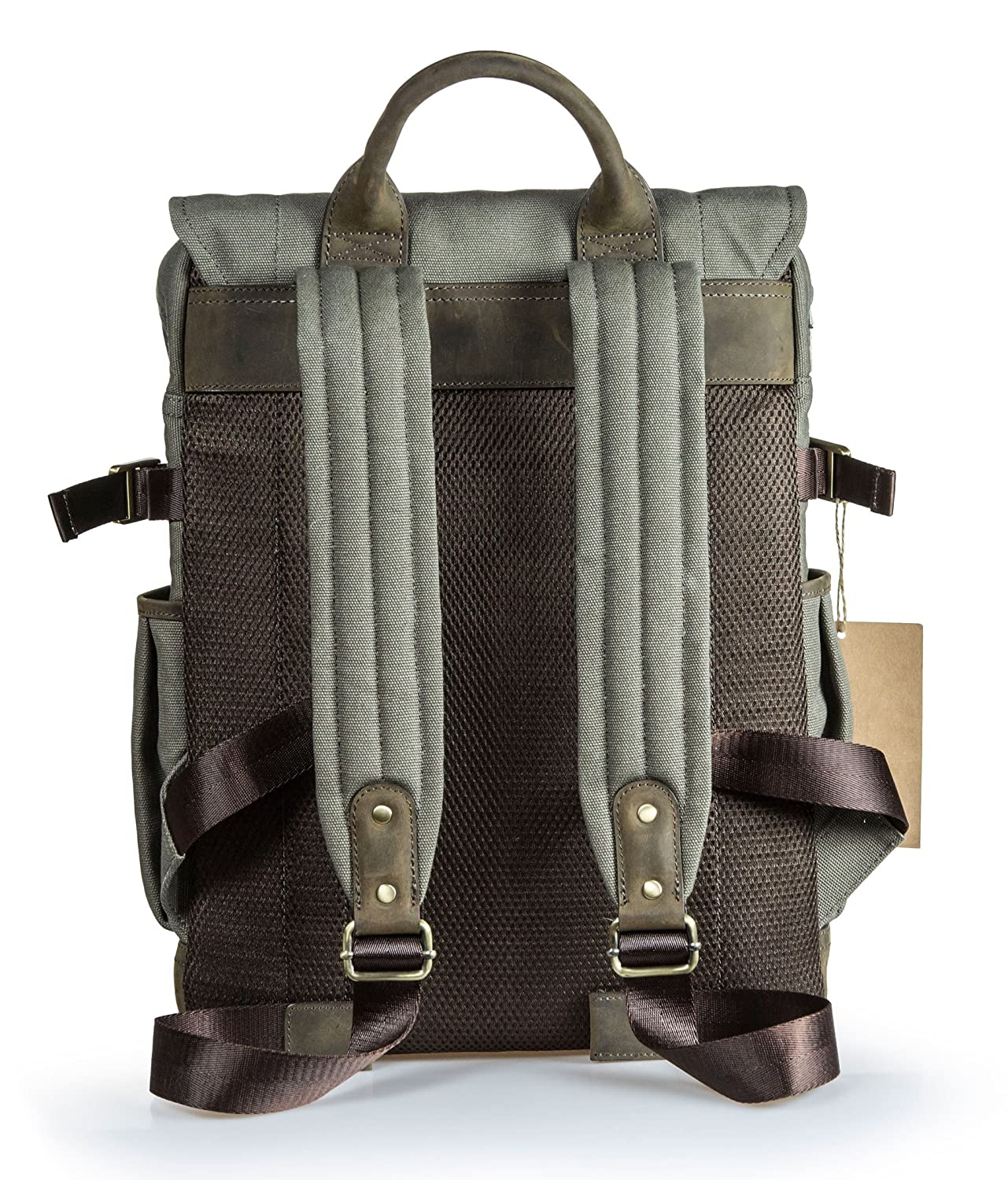 c2637b23d Amazon.com : Portage Kenora Waxed Canvas Leather Backpack for Camera and  Laptop : Electronics
