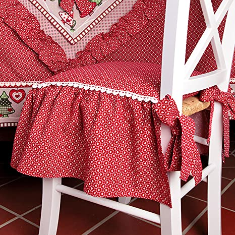 Cuscino per sedia Country chic Collezione Abeti Angelica Home ...