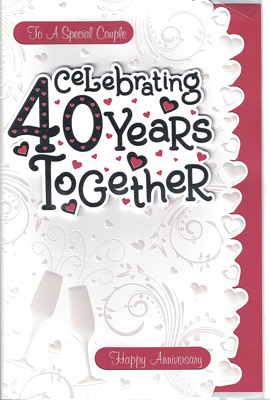 Ruby Wedding Anniversary Wishes Card JJ1085