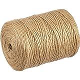 Rayher fil de jute naturel – ficelle de jute parfait pour scrapbooking, jardinage, artisanat – corde en chanvre pour vos activités de loisirs créatifs – marron