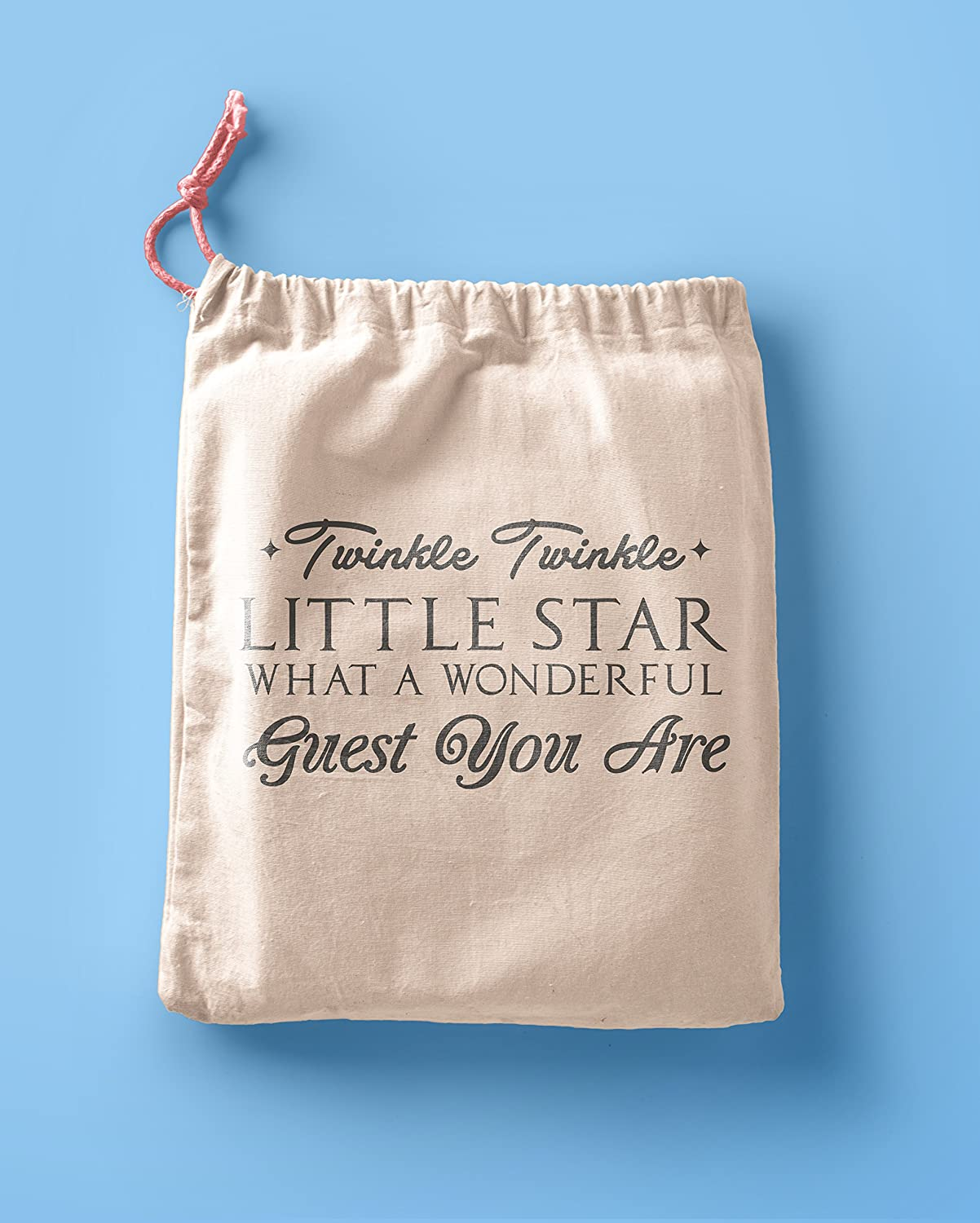 Twinkle Twinkle Little Star Favor Bags - Party Favor bags - Muslin Cotton Bags - Birthday party Bags - Poem Favor Bags