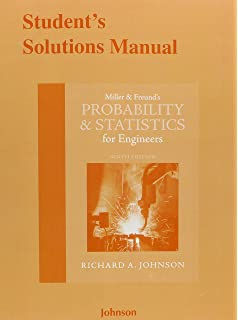 Amazon miller freunds probability and statistics for students solutions manual for miller freunds probability and statistics for engineers fandeluxe Choice Image