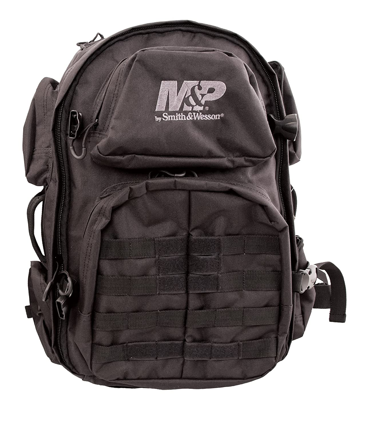 Smith & Wesson Gear Pro Tac Largeバックパックwith Tactical Rugged Weather Resistant MOLLEの狩猟ハイキングキャンプ旅行学校範囲スポーツ日常緊急用デイパック B01BDW1VBA