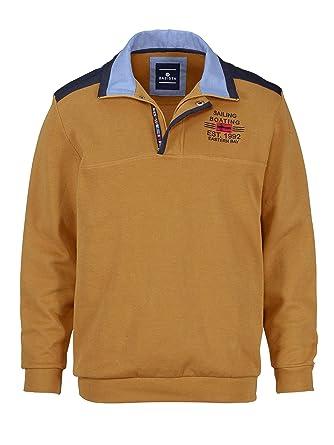 da7c46628a14 BABISTA Herren Sweatshirt Baumwolle mit aufwändigem Kragen  Amazon.de   Bekleidung