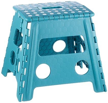 Zeller 99167 - Taburete de plástico plegable, 37 x 30 x 32 cm, color